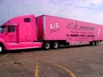 Long distance relocation: pink trucks
