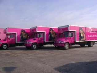 E-Z Movers: pink trucks