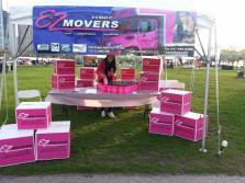 E-Z Movers' tent